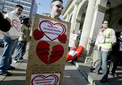 Protesta de «Valentines» en Ferrol